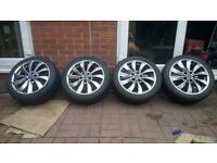 "Wolfrace 17"" 4 alloy wheels alloys with tyres"