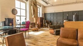 Work in an incredible Interior Design Mill - Workspace / Hot Desk / Showroom with Receptionist