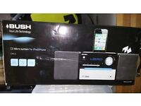 Boxed Bush CMC1i Micro Hi-Fi System with iPod iPhone Dock FM Tuner CD Player
