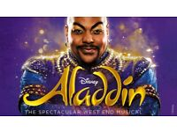 2x Aladdin Tickets 10th October