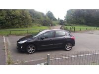 2008 (58) Plate Black Peugeot 308 1.6 VTi Sport (120ps) Petrol 5dr - 17in Alloys. WITH 7 MONTHS MOT