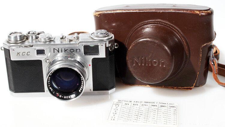 NIKON S2 RANGEFINDER W/ NIKKOR-S 50MM F1.4 LENS AND CASE