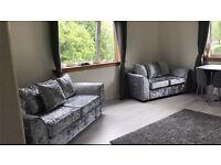 3+2 crushed velvet sofa