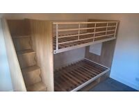 Bunk single beds with stairs