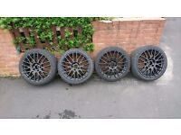 """Bmw alloys 18"""" freshly powered coated came off e90"""