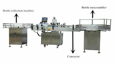 Automatic Round Bottle Labeling Machine Glass Plastic Bottle Application Labeler