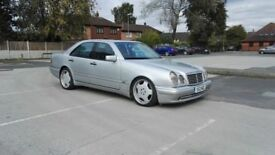 Mercedes E55 AMG W210 5.5 1998 reg 5 speed automatic 394bhp