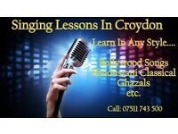SINGING LESSONS, CROYDON - Learn from professional - Bollywood style, Hindustani Classical, Ghazals