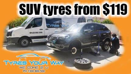 SUV 4WD 4x4 Tyres - Mobile Tyres Fitted at Your Doorstep!