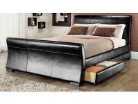 Double Bed 4ft6 Leather With Storage. Brand New In Box