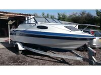 BOAT SUNBIRD 188 CC CUDDY CABIN WITH INBOARD OMC ENGINE , NOT OUTBOARD BALINER SEARAY MAXUM