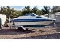 SPEEDBOAT SUNBIRD 188 CC CUDDY CABIN WITH AN INBOARD 2.3 OMC , NOT OUTBOARD BAYLINER SEARAY FLETCHER