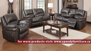 3 pcs Recliner sofa set BRAND NEW IN BOX $1799. Air Leather.....