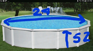 24 ft round hard sided pool