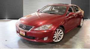 2010 Lexus IS 250 Premium, Red on Black Leather Interior, Navi