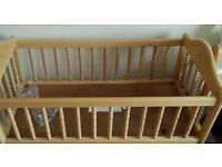 M&P swinging crib and myleene klass baby klass moses basket