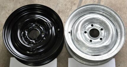 """Steel rims 13/14/15/16"""" with 4/5/6 studs 2nd hand $25 each"""
