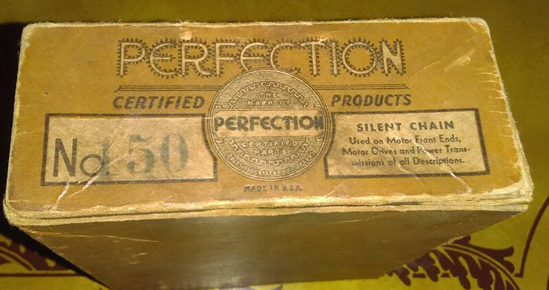 VINTAGE SILENT DRIVE CHAIN # 150 By PERFECTION GEAR CO; CHICAGO MULTI-PURPOSE