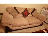 Beige 3 Seater Sofa