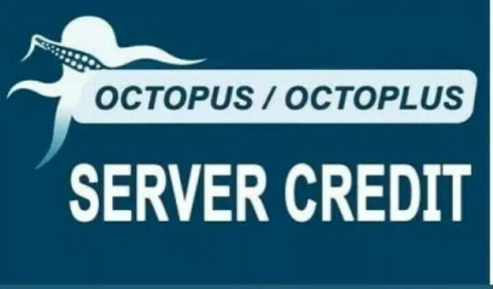 Octoplus Octopus Box server credits (100 credits) New user or Refill Instant
