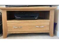 Small oak TV cabinet