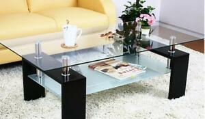 Black Glass Top Coffee Table on Sale (SK16)