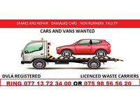 SCRAP CAR'S END OF LIFE VEHICLES , DAMAGED CARS , MOT FAILURES ,