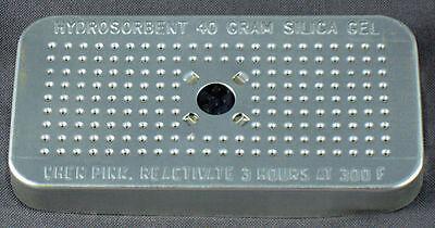 Silica Gel 40 Gram Hydrosorbent Desiccant Aluminum Canister 2 Pack