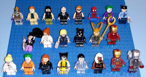 22 LEGO figurines SUPER HEROES