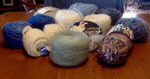assorted lot of yarn for knitting & crocheting incl. sock yarn