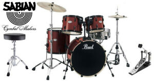Pearl DrumSet Includes Sabian Cymbals, Hardware & Throne $574.99
