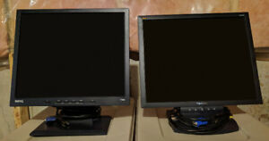 """Two 19"""" LCD Computer Monitors for $30 * GREAT DEAL *"""