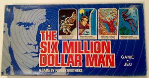 1975 Parker Brothers Six Million Dollar Man Board Game Ex