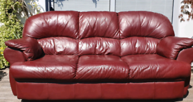 DELIVERY INCLUDED VGC genuine ITALIAN LEATHER 3 seater sofa