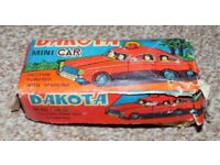 COLLECTIBLE Vintage DAKOTA Mini Car Tinplate Friction Action Toy Car in box from circa 1950s
