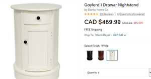 Gaylord drawer nightstand