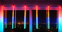 "LED CASCADE Long Tube 36"" Indoor/Outdoor 360°-380 Multi-Color"