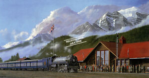 Max Jacquiard:2850 Royal Train Arriving Lake Louise Station 1939