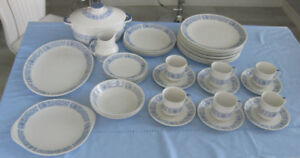 42 PIECE ROYAL DOULTON CHINA DISHES, CRANBOURNE, MADE IN ENGLAND