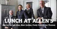 Lunch At Allen's | Rebecca Cohn Auditorium | October 21st