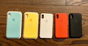 iPhone X Apple Silicone Cases (Lot of 4)