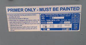 675L Double Wall Oil Tank Feb 2012