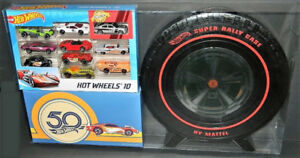 Hot Wheels 50th Anniversary 10-Pack + Super Rally Case