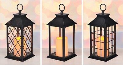 LED Laterne Windlicht Kerzenhalter Kerze Stumpenkerze Batteriebetrieben