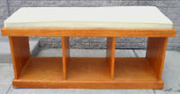 All Wood HALL BENCH Media Stand FISH TANK STAND Storage TV
