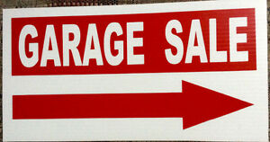 """New garage sale sign with 48"""" stake"""