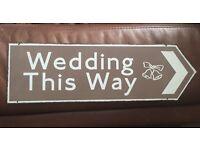 Metal wedding sign