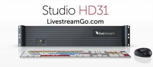 LiveStream Studio HD 31+Surface controller+2 Monitors