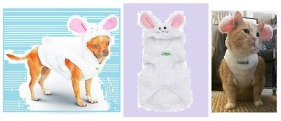 PetCo Wag-A-Tude Dog Costume White Easter Bunny Hoodie Coat Medium Plush Rabbit (White Rabbit Dog Kostüm)