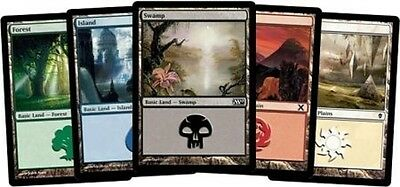 200 MTG BASIC LAND MAGIC THE GATHERING CARDS COLLECTION - Lot Set 40 Each Mana